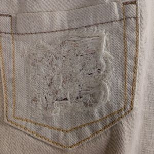 Express Jeans - Express Stella Low Rise Bootleg Jeans Destroyed
